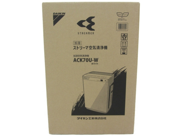 未使用 【中古】 DAIKIN ダイキン 空気清浄機 ACK70U-W 加湿 ストリーマ ホワイト N3921895