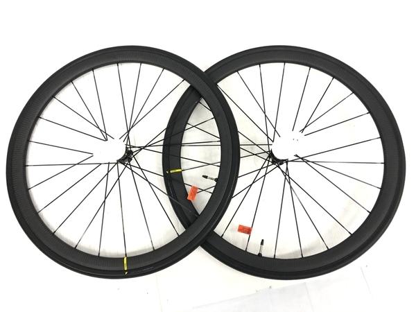 未使用 【中古】 Mavic KSYRIUM PRO CARBON UST DISC M-28 Ft Rr 前後セット 自転車 パーツ ホイール K4964473