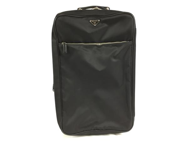 【中古】 PRADA プラダ キャリーケース キャリーバッグ ナイロン ネロ ブラック スーツケース 2輪  T3894512
