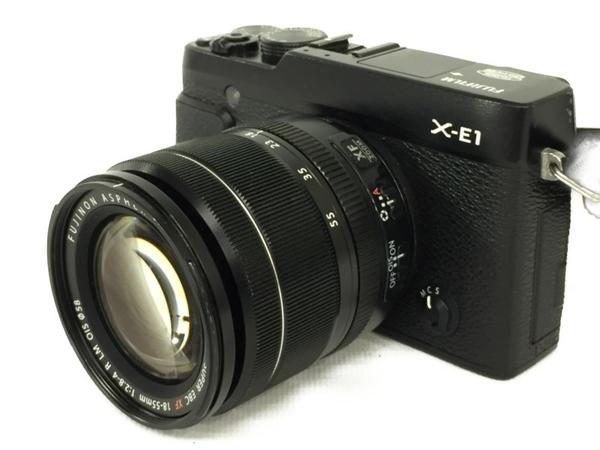 【中古】 FUJIFILM 富士フイルム X-E1 レンズキット カメラ ミラーレス一眼 ブラック N3912804