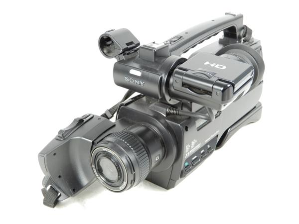 【中古】良好 SONY ソニー HXR-MC2000J 業務用ビデオカメラ AVCHD バッテリー複数付 箱付 K3551011