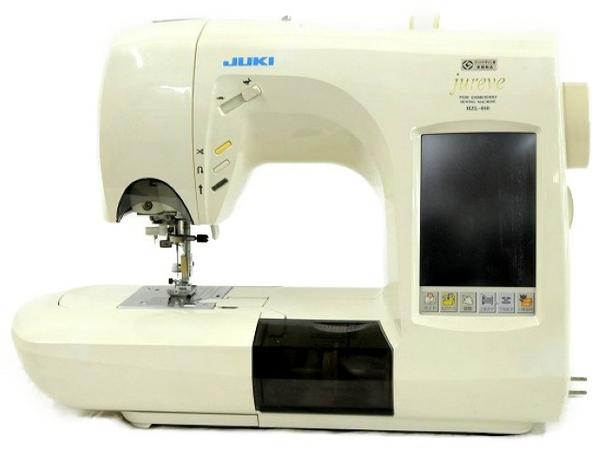 【中古】 JUKI HZL-010 EM-3 コンピューター ミシン 刺繍機 セット T3891995
