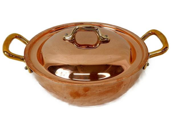 未使用 【中古】 MAUVIEL モヴィエル ムヴィエール レギュミエパン フタ付 20cm フランス製 料理 調理 S3361270
