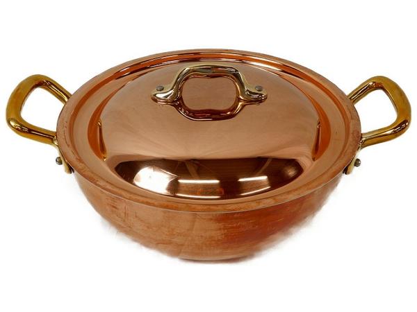 未使用 【中古】 MAUVIEL モヴィエル ムヴィエール レギュミエパン フタ付 20cm フランス製 料理 調理 S3361272