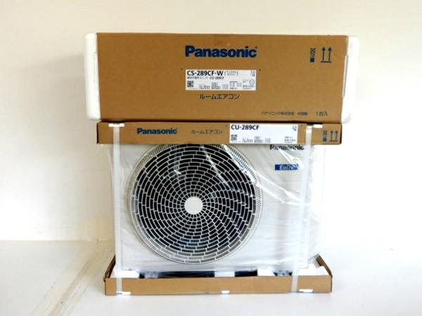 未使用 【中古】 Panasonic パナソニック CS-289CF-W CU-289CF Eolia エオリア ルームエアコン 冷房 暖房 10畳 クリスタルホワイト 未使用 F3945295