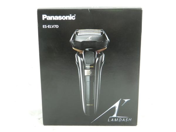 未使用 【中古】 Panasonic パナソニック ES-ELV7D ES-ELV7D-K 5枚刃メンズシェーバー エディオンオリジナル LAMDASH 黒 K3921032