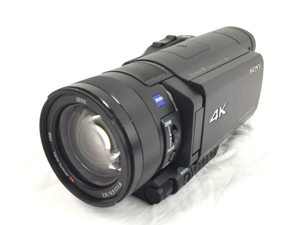 【中古】 SONY ソニー ビデオカメラ FDR-AX100 4K 光学12倍 ブラック Handycam ハンディカム カメラ 2015年製 中古 良好 T3897297