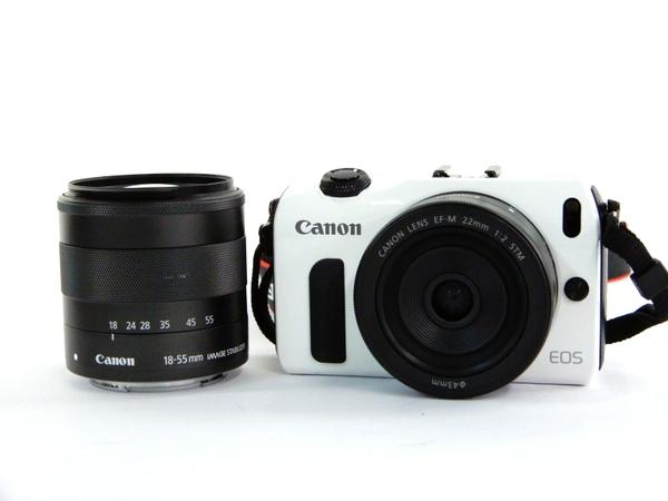 【中古】 Canon キヤノン EOS M ダブルレンズキット EOSMWH-WLK Y3483040