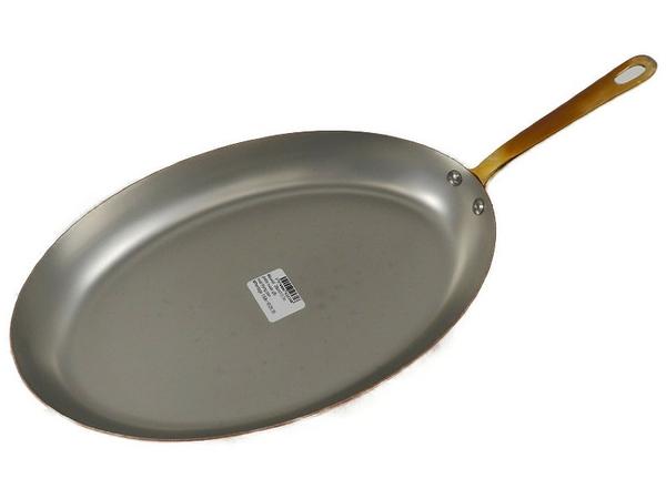 未使用 【中古】 MAUVIEL モヴィエル ムヴィエール 片手オーバルパン 35cmフランス製 料理 調理 S3361119