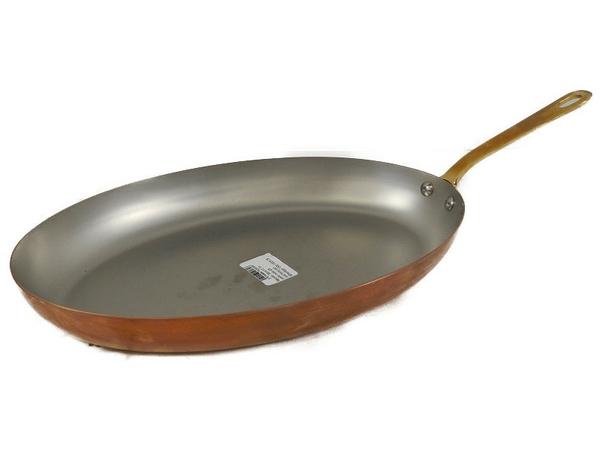 未使用 【中古】 MAUVIEL モヴィエル ムヴィエール 片手オーバルパン 35cmフランス製 料理 調理 S3361375
