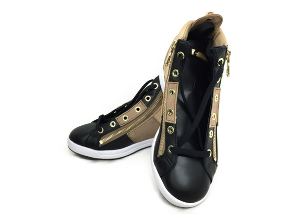 未使用 【中古】 Mark & LONA マークアンドロナ Encore Zip High-cut Sneaker ML-ZK36 BLACK/BEIGE 23cm スニーカー T3824755