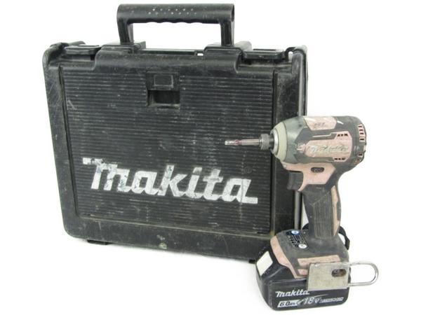 【中古】 makita マキタ TD170D 充電式 インパクトドライバ 18V 6.0Ah ピンク N3893669