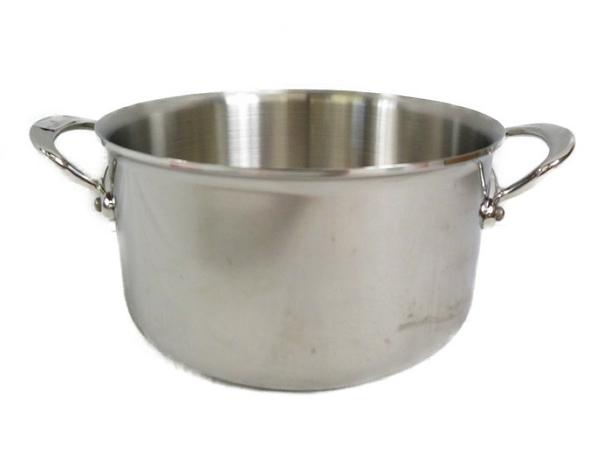 未使用 【中古】 MAUVIEL モヴィエル ムヴィエール モービル ステンレス シチューパン 20cm フタ無 フランス製 料理 調理 両手鍋 S3361493