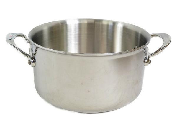 未使用 【中古】 MAUVIEL モヴィエル ムヴィエール ステンレス シチューパン 20cm フタ無 フランス製 料理 調理 S3361495