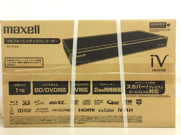 【最安値挑戦】 未使用 マクセル【】 maxell マクセル ブルーレイ iVblue BIV-R1021 BD ブルーレイ 未使用 レコーダー1TB iVDRスロット搭載 K4581248, スイーツショップAmaria:cb62c364 --- cpps.dyndns.info