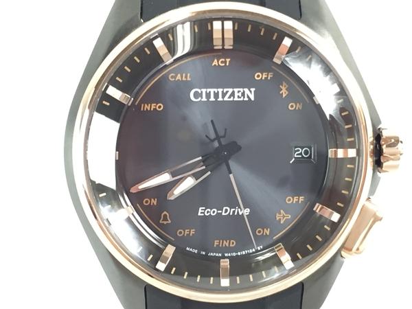 【中古】 CITIZEN シチズン エコドライブ Bluetooth スマートウォッチ 腕時計 BZ4006-01 ユニセックス T3840705
