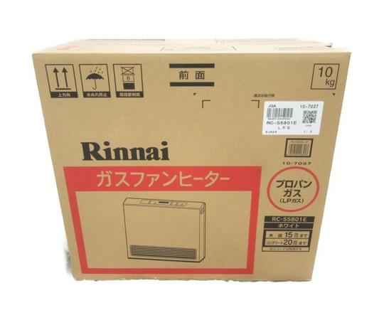 未使用 【中古】 Rinani ガスファンヒーター RC-S5801E LPガス 15-21畳 N3526722
