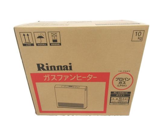 未使用 【中古】 Rinani ガスファンヒーター RC-S5801E LPガス 15-21畳 N3526725
