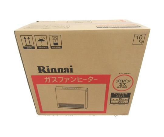 未使用 【中古】 Rinani ガスファンヒーター RC-S5801E LPガス 15-21畳 N3526726