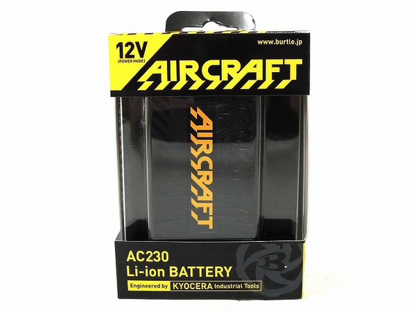 未使用 【中古】 未使用 BURTLE AC230 Li-ion BATTERY AIR CRAFT ブラック バートル バッテリー O4911472