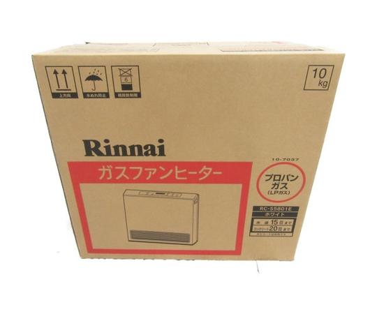 未使用 【中古】 Rinani ガスファンヒーター RC-S5801E LPガス 15-21畳 N3526732