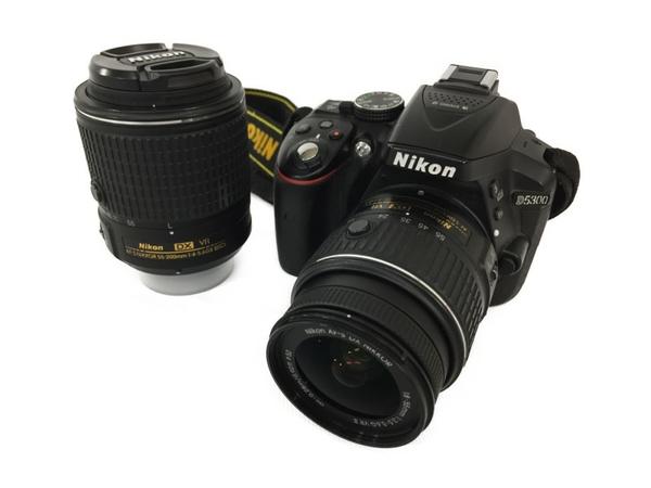 【中古】 Nikon D5300 ダブルレンズキット D5300 18-55 55-200 VR II LK G カメラ 一眼レフ N3904326