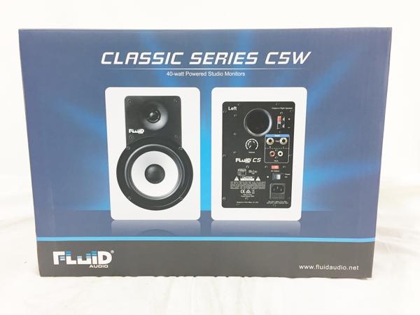全国総量無料で 未使用【中古 Monitor】 Fluid Speaker Audio C5W 2Way バスレフ型 未使用 Monitor Speaker ホワイト未開封 パワードスピーカー T3760275, ma-ma:041e32b1 --- clifden10k.com