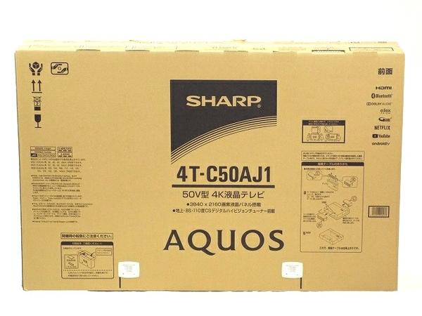 未使用 【中古】 SHARP AQUOS シャープ アクオス 4T-C50AJ1 50V型 4K 液晶テレビ Android TV 未使用 T3511704