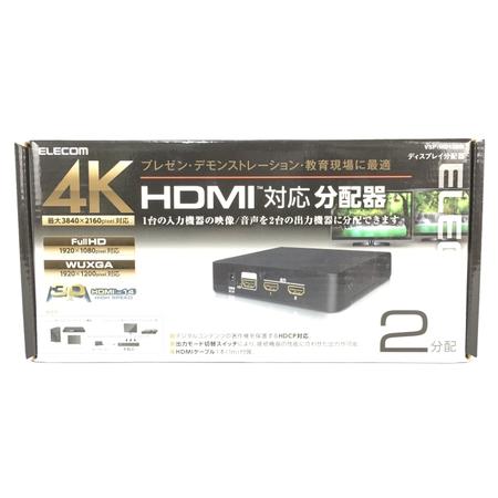 ELECOM エレコム VSP-HD12BK 4K HDMI 対応 分配器 Y3920968