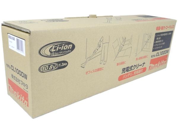 未使用 【中古】 makita マキタ CL100DW 充電式 掃除機 コードレス ホワイト系 N3670034