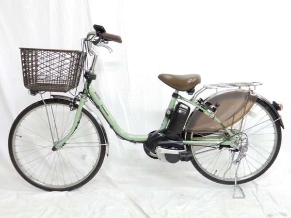 【中古】 Panasonic パナソニック BE-ELD434G2 ViVi ビビ 電動 アシスト 自転車 2018年 モデル 24型 アップルグリーン 【大型】 K3868380