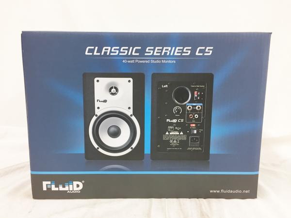未使用 【中古】 Fluid Audio C5 2Way バスレフ型 Monitor Speaker ブラック パワードスピーカー T3760270