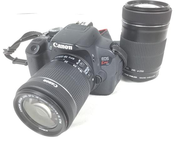 【中古】 Canon キャノン EOS Kiss X6i ダブルズームキット KISSX6I-WKIT カメラ デジタル 一眼レフ デジカメ S3888024