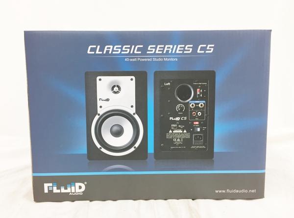 未使用 【中古】 Fluid Audio C5 2Way バスレフ型 Monitor Speaker ブラック  T3760271