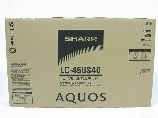 【中古】 ジャンク SHARP シャープ AQUOS LC-45US40 液晶テレビ 4K 45型 T2487538