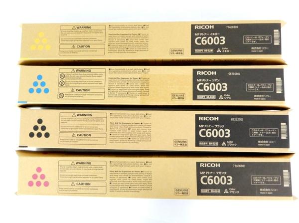 未使用 【中古】 RICOH C6003 トナー ブラック イエロー シアン マゼンタ 4色 セット Y3505240