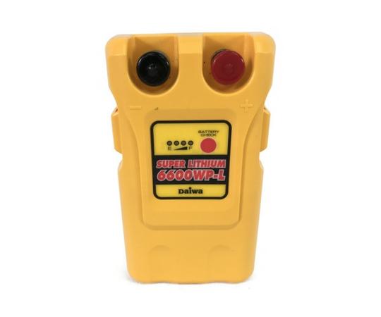 【中古】 DAIWA スーパーリチウム 6600WP-L-N 電動リール」バッテリー S4994894