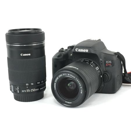 人気特価 【 キャノン】 Canon 機器 キャノン EOS KISS X8i 一眼レフ カメラ Y3961575 ダブルレンズキット バッテリー付 趣味 機器 Y3961575, 和寒町:297ddb74 --- cpps.dyndns.info