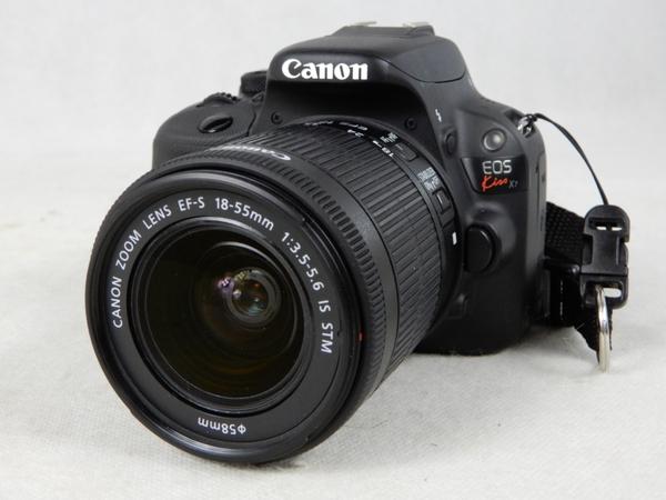 【中古】 Canon キャノン EOS Kiss X7 レンズキット EF-S18-55mm F3.5-5.6 IS STM ブラック カメラ デジタル 一眼レフ KISSX7-1855ISSTMLK K3876854