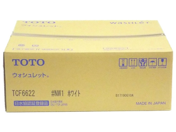 未使用 【中古】 TOTO ウォシュレット SB TCF6622 #NW1 ホワイト 温水洗浄便座 T4167186