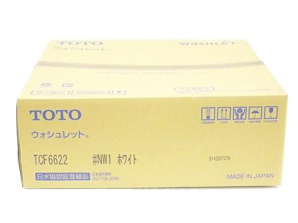未使用 【中古】 TOTO ウォシュレット TCF6622 #NW1 ホワイト 温水洗浄便座 T5142870