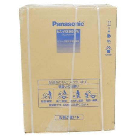 未使用 【中古】 Panasonic パナソニック NA-VX8800L-W ななめ ドラム式 洗濯 乾燥機 家電 楽直 【大型】 Y3938325