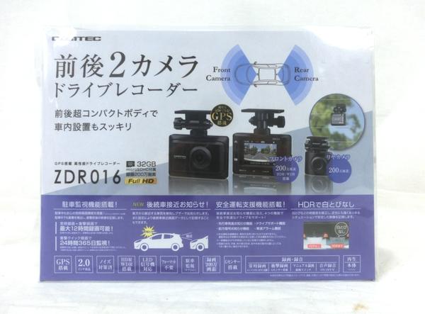 未使用 中古 COMTEC ZDR016 ドライブレコーダー 前後2カメラ HDR 高品質 GPS 全品最安値に挑戦 200万画素 搭載 コムテック M5448592