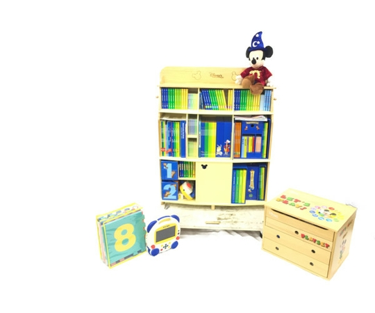 【中古】 良好 DWE ディズニー システム フルセット ワールドファミリーパッケージ 2018年頃 英語 教材 幼児【大型】 K4048080