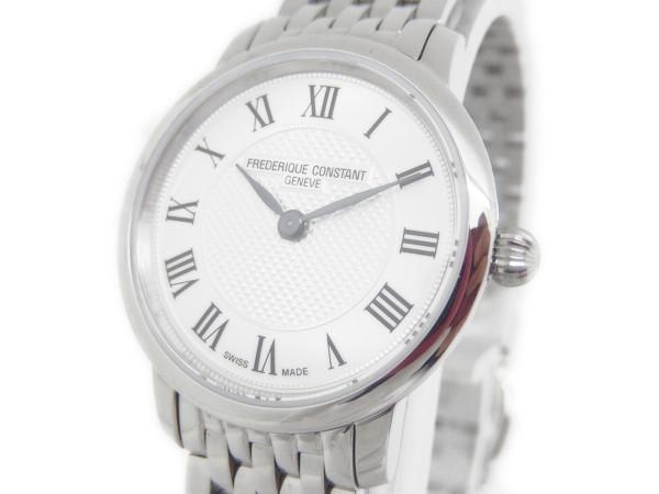 『1年保証』 美品【】フレデリックコンスタント FREDERIQUE CONSTANT スリムライン レディース FC-200MCS6B 腕時計 クォーツ ステンレス Y2126430, キャンディコムウェア 4b1ee3a2