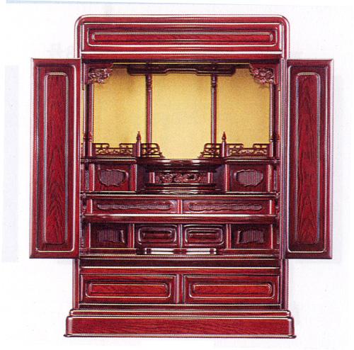 紫檀調 上置仏壇 高62cm