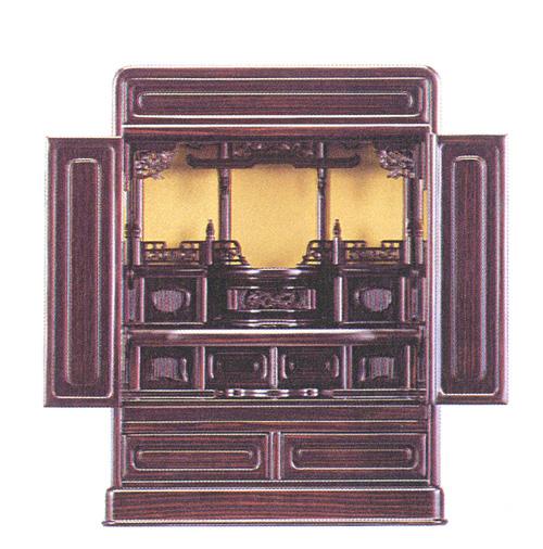 黒檀調上置仏壇 高62cm