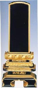 【最高級品】唐蓮華 截金付 札丈6.0寸三年保証書付一戒名素彫付(文字表裏白色)