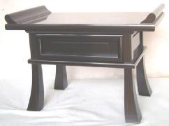 黒檀天然杢張経机 オープン塗装 巾42cm