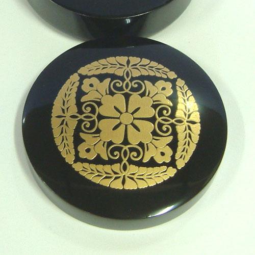 大谷派紋切立香合 上品 径3.0寸(9.0cm)